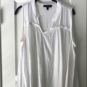 Lane Bryant drapey tank, white, 18